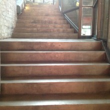 "Лестница из декоративного бетона.Микробетон.Ресторан ""Уголек"""