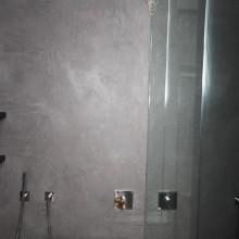 Декоративная штукатурка Микроцемент. Ванная комната.