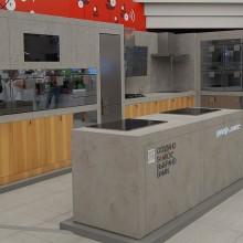 Микроцемент. Мебель под  декоративный бетон для проекта Филиппа Старка